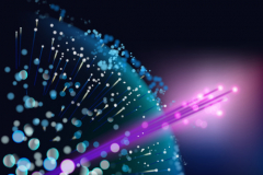 Optical fibers. Vector illustration.